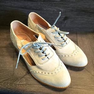 Shellys London Light Blue Suede Lace Up Oxfords s5